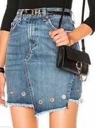 light wash denim skirt blue light wash high waist eyelet detail asymmetric denim skirt