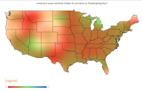 thanksgiving maps show celebration differences hppr