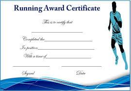 running certificate templates 20 professional running certificates