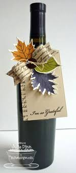 bows for wine bottles thankful leaves fall leaves die namics beautiful bows die namics