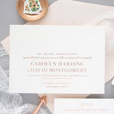 wedding invitations rose delicate rose gold wedding invitations banter and charm