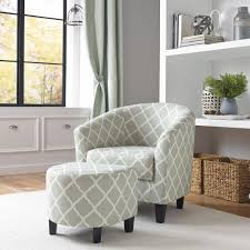 Chairs With Ottomans For Living Room Chair With Ottoman Chairs Living Room Furniture The Home Depot