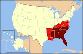 map usa southeast southeastern united states