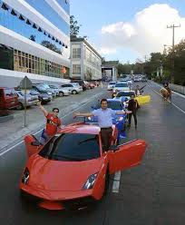 city car driving lamborghini supercar owners hold up traffic in already congested baguio city