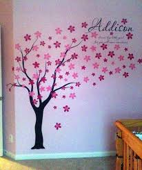 Vinyl Tree Wall Decals For Nursery by Amazon Com Pop Decors Drifting Flowers And Birds Tree Wall Decals