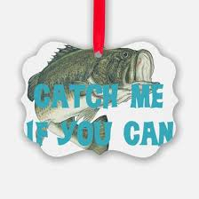 bass fishing ornament cafepress