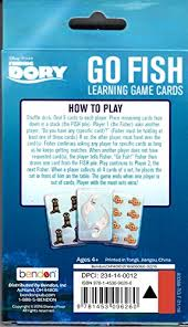 how to play the fish table amazon com disney finding dory go fish learning card game toys games