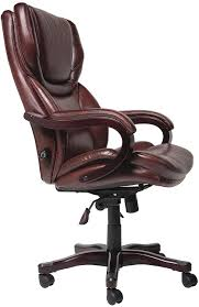 Office Chairs Amazon Com Serta Bonded Leather Big U0026 Tall Executive Chair Brown