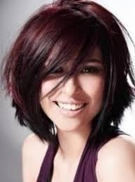 layered highlighted hair styles burgandy hair dark violet highlights hairstyles pinterest