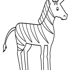 cute cartoon zebra coloring page h m coloring pages special cute