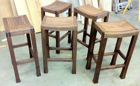 saddle seat bar stools crafted in solid american walnut
