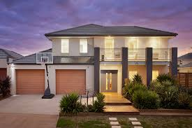 modern elegant melbourne architect that has brown garage door can