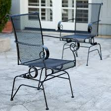 interesting decoration black metal patio furniture vibrant ideas
