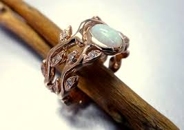 engagement rings engagement ring settings engagement ring with opal and diamonds opal ring set leaf