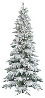 slim flocked utica fir tree trees by vickerman company