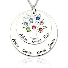 personalized family tree necklace personalized family family tree necklaces