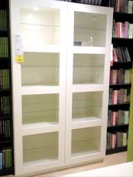 Sauder Bookcase With Glass Doors by Furniture Have The Tidy Look Of Home With Bookcases With Glass