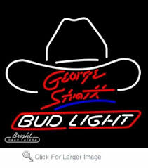 bud light lighted sign neon budlight beer sign featuring george strait only 289 99 signs b