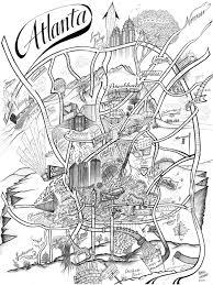 Maps Of Atlanta by The Atlanta Map U2014 Lookbook Atlanta
