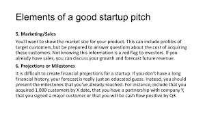 Red Flags When Dating Elements Of A Good Startup Pitch Ppt Download