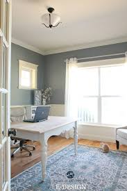 Wainscoting Office Benjamin Moore Sea Pine Stonybrook Home Office With White