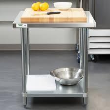 kitchen table rectangular stainless steel work metal assembled 8
