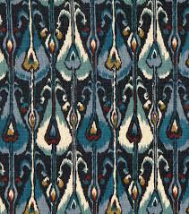 home decor print fabric robert allen ikat bands indigo joann