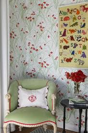Floral Interiors Mint And Red Floral Interiors By Color