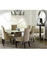 sophia mirrored dining room furniture collection with tufted