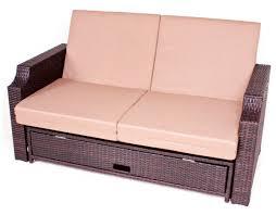 Garten Lounge Gunstig Multifunktions Sofa Aus Braunem Kunststoffgeflecht Garten Sofa