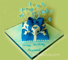 21st birthday cake blue theme 8lb online shopping site for