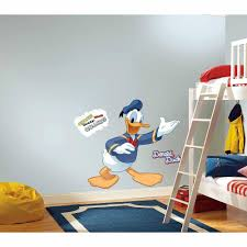 roommates mickey and friends donald duck piece mickey and friends donald duck piece peel stick giant wall decal rmk the home depot