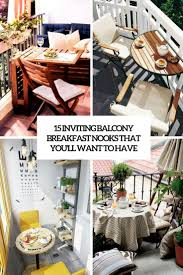 15 inviting balcony breakfast nooks that you u0027ll want to have