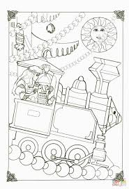 train color pages nutcracker in his little train coloring page free printable