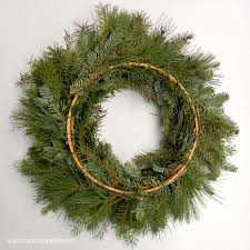 fresh wreaths how to make a fresh evergreen wreath for christmas decorating an