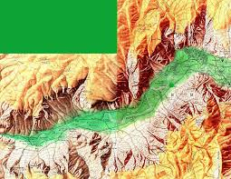 Yosemite Valley Map Yosemite Valley Shaded Relief Map California United States 1958