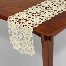 Kitchen Table Runners by Essential Home Crochet Table Runner Home Dining U0026 Entertaining