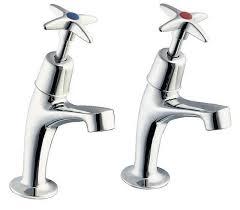 Deva X Cross Handle Chrome Kitchen Sink Pillar Taps Pair EBay - Kitchen sink pillar taps