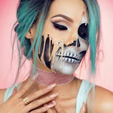 melted makeup look for halloween popsugar beauty uk