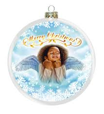 little angel african american christmas ornament the black art