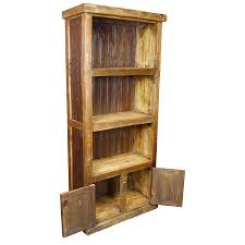 Rustic Wood Bookshelves by Rustic Wood Bookcase With Corrugated Tin Panels