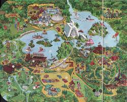 Disney World Magic Kingdom Map The Story Of Walt Disney World 1971 And 1976 Editions Imaginerding