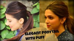 easy everyday elegant ponytail hairstyle with full puff for