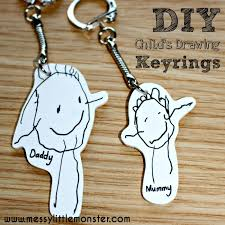 keepsake keychains shrinky dinks keyring