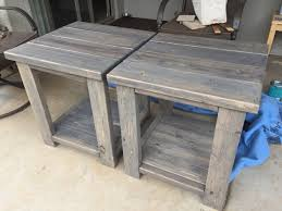 Woodworking Plans And Simple Project by 2x4 End Tables Made From Scrap Left Over Pieces Boards Are