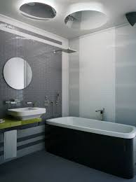awesome modern small grey bathroom white tub arts design modern