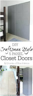 Craftsman Closet Doors Closet Diy Closet Doors Ideas Diy Sliding Closet Doors Ideas