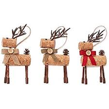 rudolph reindeer wine cork decorative hanging tree