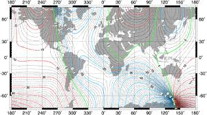 declination map pwhs em the magnetic earth