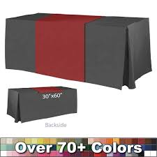 trade show table runner non printed 30 x 60 table runner trade show blank table runners